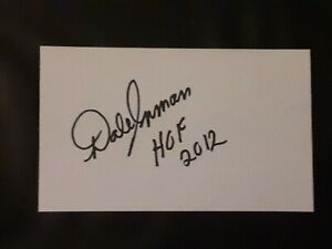 DALE INMAN NASCAR HOF PETTY CREW CHIEF AUTOGRAPHED SIGNED INDEX CARD 3X5