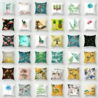 Flower & Plants Pillow Case Polyester Sofa Car Throw Cushion Cover Home Decor