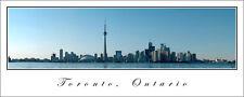 City Skyline Poster Panorama Toronto Ontario Panoramic Fine Art Print CN Tower