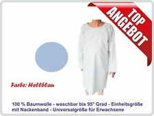Krankenhemd, Pflegehemd, Nachthemd, Flügelhemd fuer Erwachsene, Farbe: hellblau