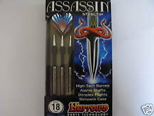 Harrows ASSASSIN Ringed  80% Tungsten Darts -18gms - *Free UK Postage*