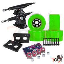 Cal 7 Longboard Flywheel 180mm Truck Bearing 97mm Green Skateboard Wheels