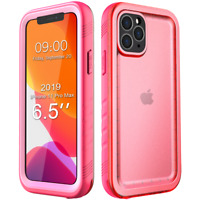 """6.5"""" 2019 Pink Waterproof Case for Apple iPhone 11 Pro Max Rugged Fullbody Cover"""