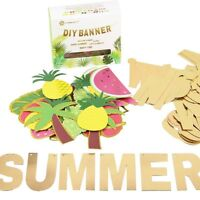 Letters Summer Banner Fruit Party DIY Banner Tropical Hawaiian Festival