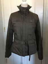Lacoste Women's Winter Coat Jacket Size 40 Color  Khaki RN# 87651