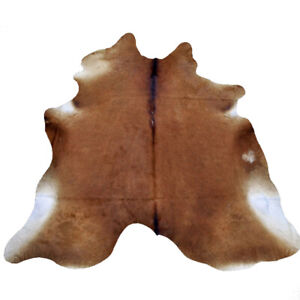 7 Ft X 6 Ft Premium Cowhide Rug Skin Area Carpet Hair On Leather From Brazil U-S