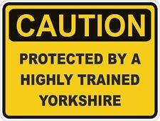 Dog Breed Yorkshire Caution Sticker Pet for Bumper Car Locker Door Truck