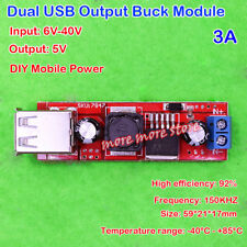 DC 5V 3A Step down Buck Converter Supply Dual USB Output Mobile Charger Board