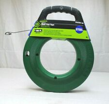 "Greenlee FTS438W-100 Magnum Pro Steel Fish Tape with Case 1/4"" x 100'"