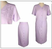Eastex Ladies Skirt & Top / Blouse Outfit size 12 14 Lilac Wedding Summer