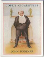Podsnap Charles Dickens Character Our Mutual Friend c80  Y/O Ad Trade Card