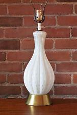 Mid Century Murano art glass table lamp bubble gold flecks Seguso Barovier
