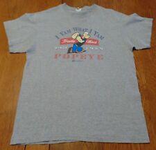 #3543-8 POPEYE I YAM WHAT I YAM Since 1929 Retro Graphic T-Shirt L