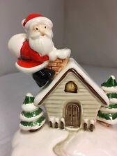 "(1979) Christmas, Santa Claus, Music Box, ""Otagiri Co."", Japan ""Jingle Bells"""