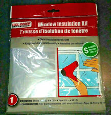 Window Insulation Kit Shrink FIlm 60 x 72 inch Reduce energy cost