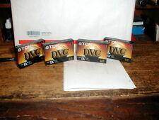 Lot of 4 TDK  DVC 60 min cassette's