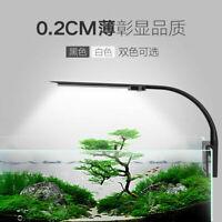 LED Aquarium Light Clip On Fish Tank Lamp with Extendable Bracket Blue Z5G3