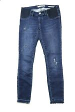 Jeanswest  womens Maternity skinny distressed 7/8 blue