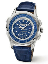Patek Philippe 5930G Complications World Time White Gold Blue Dial Men's Watch