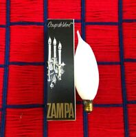 NEW 60w candle FLAME Bent tip WHITE 120v light BULB E12 candelabra incandescent