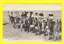 CLIFTONVILLE,  KENT - LOUIS LEVY POSTCARD NO. 12  -  DONKEYS ON SANDS  -  C 1905