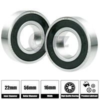 10x Ball Bearing 10mm x 26mm x 8mm Rubber Seal Premium RS  Shielded 6000-2RS