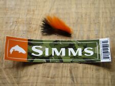 SIMMS Fishing Products Authentic Trout Riffle wordmark sticker