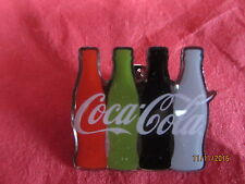 COCA COLA PIN BADGE 4 BOTTLE STYLE LIFE, REGULAR, DIET, ZERO