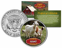 GOAT * Collectible Farm Animals * JFK Kennedy Half Dollar U.S. Colorized Coin