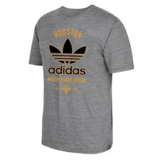 "Houston Dynamo MLS Adidas Men's ""Classic Label"" Trefoil Grey Tri-Blend T-Shirt"