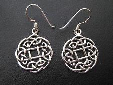 Keltischer Knoten 925'er Silber Ohrringe Ohrhänger Paar      / OR 700