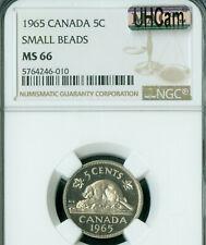 1965 S.B. CANADA 5 CENTS NGC MS66 PQ MAC UHCAM FINEST GRADE MAC SPOTLESS  .