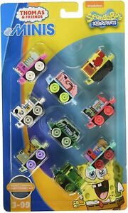 NIB Fisher-Price Thomas & Friends Minis Spongebob Squarepants Pack #4 Toy Set