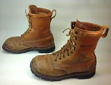 9e56f256cdb70 Men s Vintage JC Penny Brown Leather Square Toe 9-Eye Ankle Insulated Boots  ...