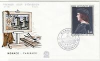 Monaco 1967 Painting Building Picture Slogan Cancel FDC Stamp Cover Ref 26390