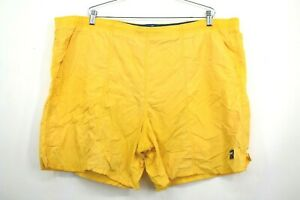 Mens Speedo Swim Trunks Summer Athletic Yellow Outdoor Sport Casual Size 2XL