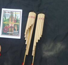 1 Piece Thai Bamboo Wote Instrument Traditional Musical Flute Panpipe Handmade