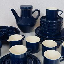Melitta Vintage Kaffeeservice Stockholm Kobaltblau 30 teilig für 6 Personen 60's