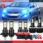 For Hyundai Elantra 2013-2018 Combo Led Headlight Hi Lo Beam Fog Light 6x Bulbs