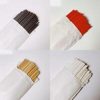 Paper Straws 20cm Biodegradable x 100 Straws in Red Black White or Kraft