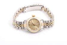 Rolex Ladies 2tone Oyster Perpetual Watch - Champagne Stick Dial - Jubilee Band
