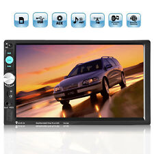 New 7'' 2DIN HD Bluetooth Touch Screen Car Audio Stereo Radio MP5 Player AUX