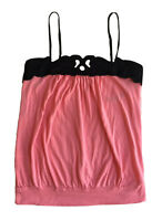 Express Pink Black Adjustable Spaghetti Straps Sleeveless Loose Cami Top Small
