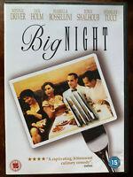 Big Night DVD 1996 Italian Restaurant Chef Cuisine Movie Drama w/ Stanley Tucci