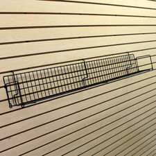 Angled Slatwall Wire Shelves in Black 6 W x 24 L Inches