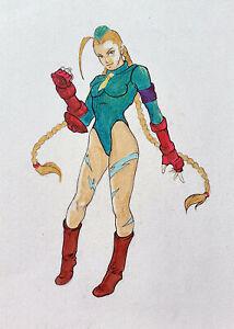 Оriginal markers drawing,art,nu,fantasyart,Super Street Fighter,supergirl,Cammy