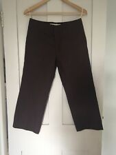 MARNI WOMEN'S  3/4 LENGTH MAROON TROUSERS SIZE 40