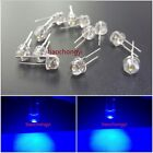 100PCS DIP LED 8mm Blue 460nm 0.5 Watt Wide Angle Bright High Power LEDs 0.5w