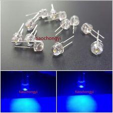 100PCS DIP LED 8mm Blue 460nm 0.5 Watt Wide Angle Bright High Power LEDs 0.5w