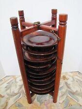 Antique Japanese Wood Dish Caddy